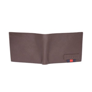 Men Brown Solid Two Fold Leather Wallet