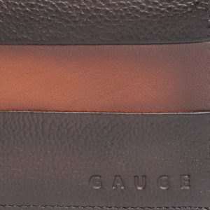 Men Brown Leather Solid Two Fold Wallet