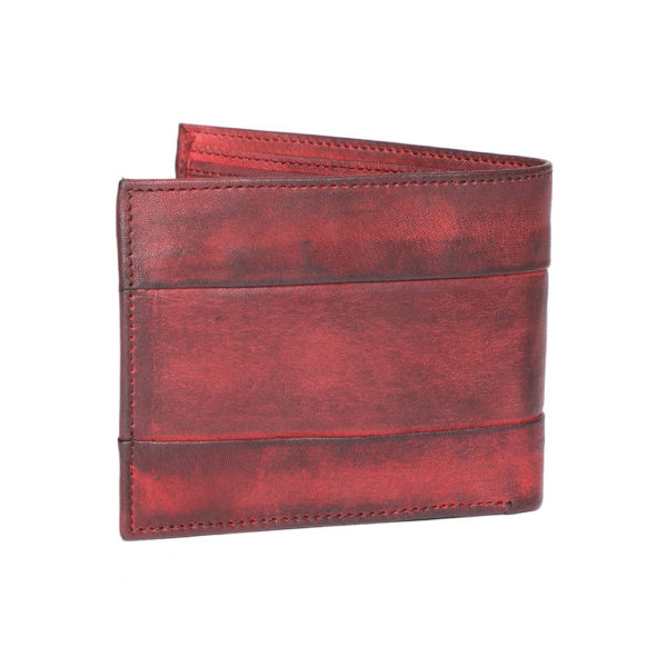 Men Maroon Solid Two Fold Wallet