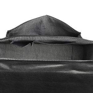 Black Solid Messenger Bag