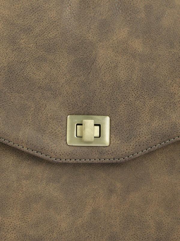 Brown Solid Messenger Bag