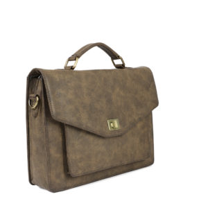 Brown Solid Messenger Bag