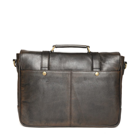 Coffee Brown Handcrafted Solid Laptop Bag