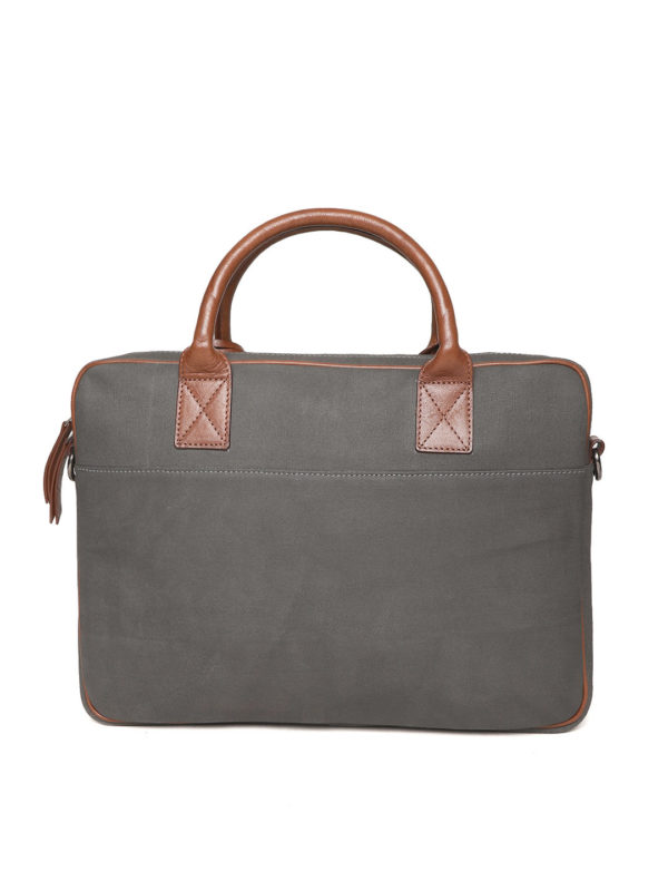Charcoal Handcrafted Solid Laptop Bag