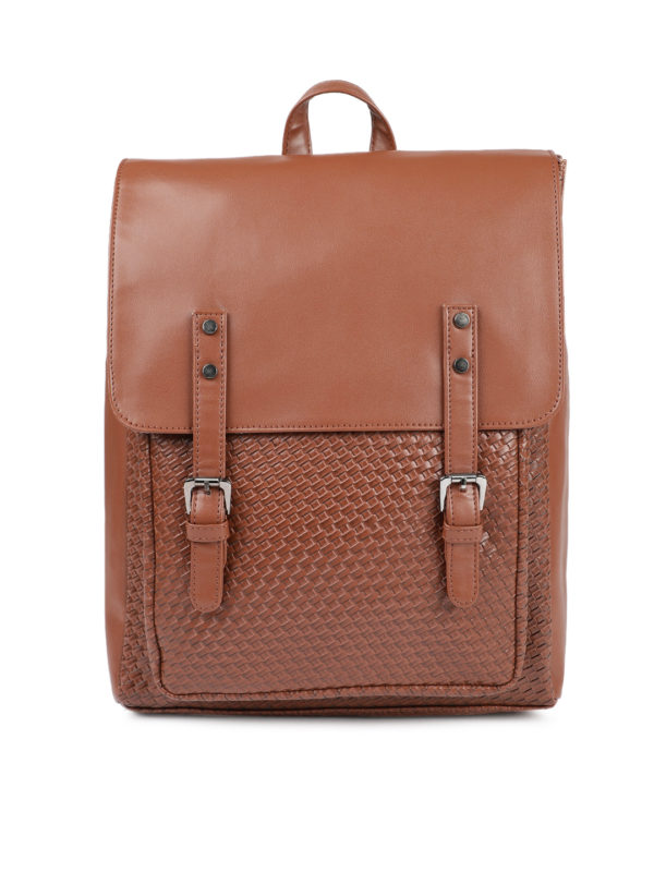 Tan Textured Backpack