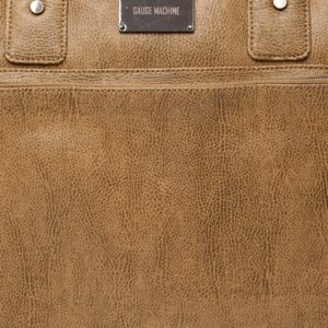 Tan Brown Solid Laptop Bag