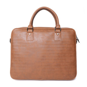 Brown Solid Laptop Bag