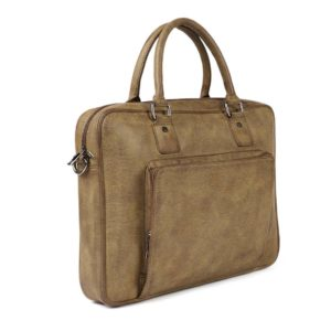 Olive Green Solid Laptop Bag