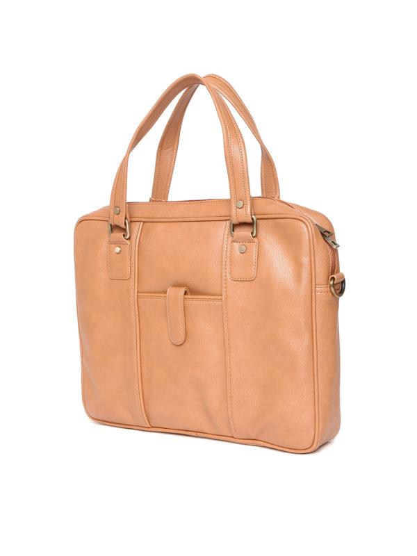 Tan Brown Laptop Bag with Sling Strap