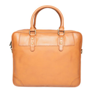 Tan Brown Handcrafted Laptop Bag