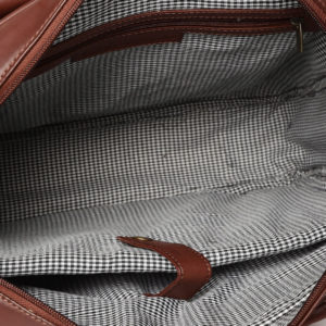 Brown Handcrafted Solid Laptop Bag