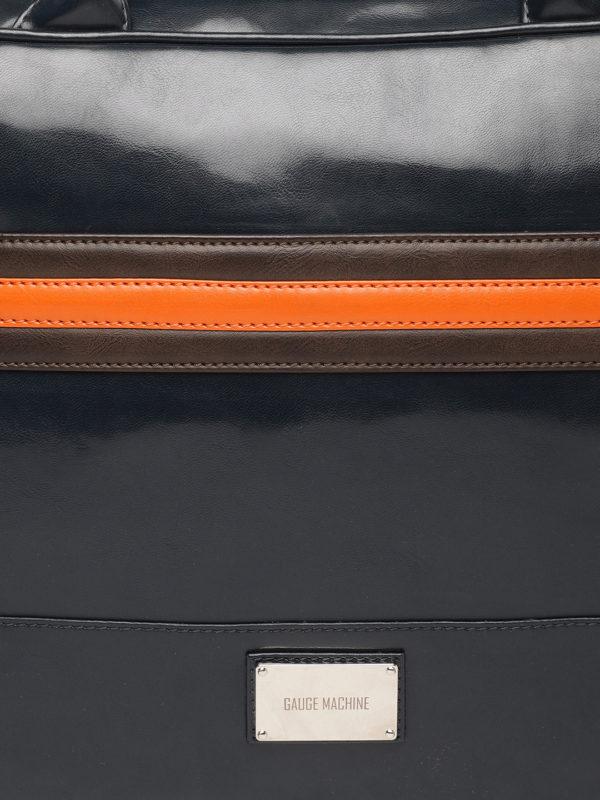 Navy Blue Solid Laptop Bag