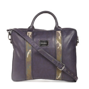 Navy Printed Laptop Bag