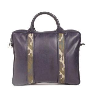 Navy Printed Laptop Bag