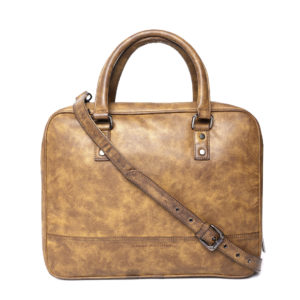 Mustard Brown Solid Laptop Bag