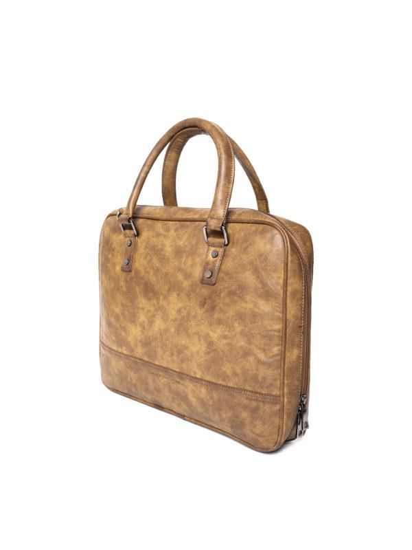 Mustard Brown Solid Laptop Bag