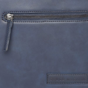 Navy Blue Solid Laptop Bag