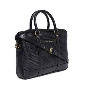 Black Textured Laptop Bag