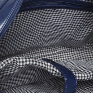 Navy Blue Textured Laptop Bag