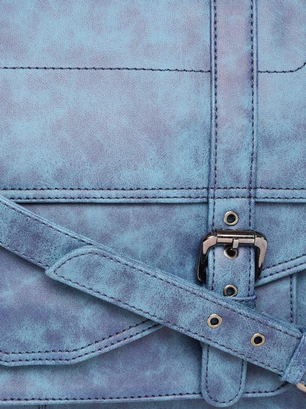 Blue Handcrafted Printed Messenger Bag