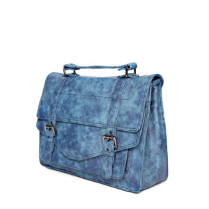 Blue Handcrafted Printed Messenger Bag